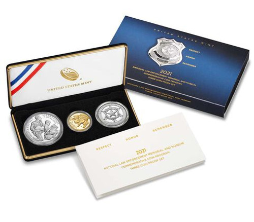 2021 National Law Enforcement Memorial and Museum Three-Coin Proof Set (21CG)