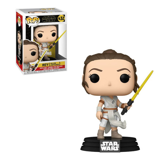 Funko Pop! Star Wars: The Rise of Skywalker - Rey with Yellow Lightsaber (#432)