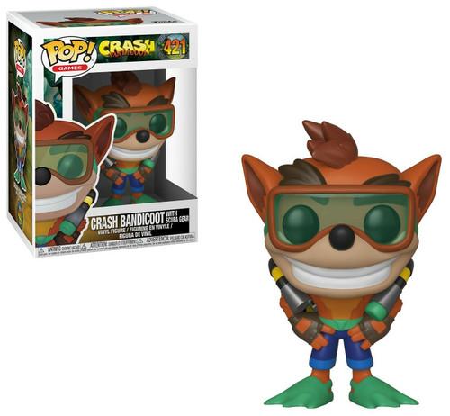 Funko Pop! Games: Crash Bandicoot - Crash Bandicoot with Scuba Gear (#421)