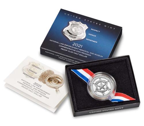 U.S. Mint - 2021  National Law Enforcement Memorial and Museum Proof Clad Half Dollar (21CE)