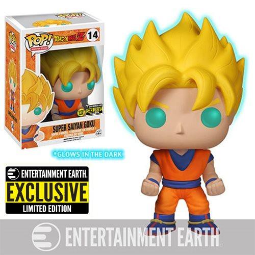 Funko Pop! Animation: Dragonball Z - Super Saiyan Goku [GITD] (#14) Entertainment Earth Exclusive
