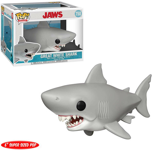 """Pop! Movies: Jaws - Great White Shark (#758) 6"""" Super-Sized Pop"""