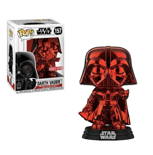 Funko Pop! Star Wars: The Empire Strikes Back - Darth Vader (Red Chrome) (#157) Target Exclusive