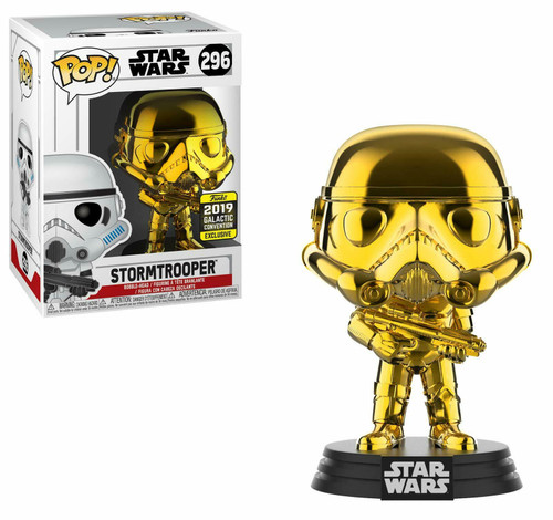 Funko POP! Star Wars - Stormtrooper (#296) Gold Chrome - 2019 Galactic Convention