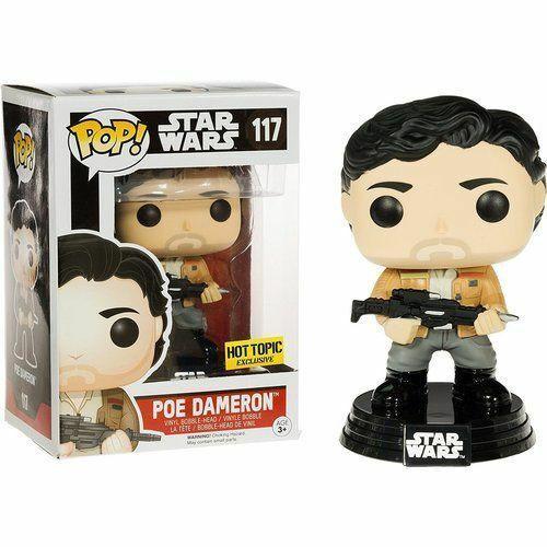 Funko POP! Star Wars:  The Force Awakens - Poe Dameron (#117) Hot Topic Exclusive