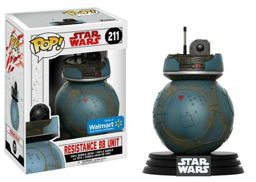 Funko POP! Star Wars:  The Last Jedi - Resistance BB Unit (#211) Walmart Exclusive