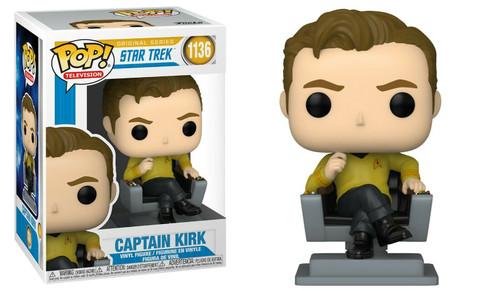 Funko Pop! TV: Star Trek - Captain Kirk (in Captain's Chair) (#1136)