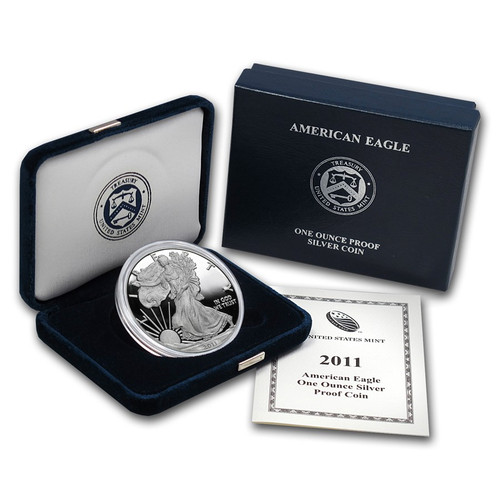 2011 (W) Silver American Eagle One Ounce Proof Coin with Box & COA