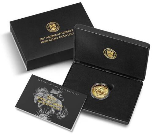 American Liberty 2021 High Relief Gold Coin (21DA)