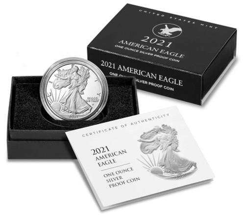 2021 (S) American Eagle One Ounce Silver Proof Coin - Type 2 (21EMN)