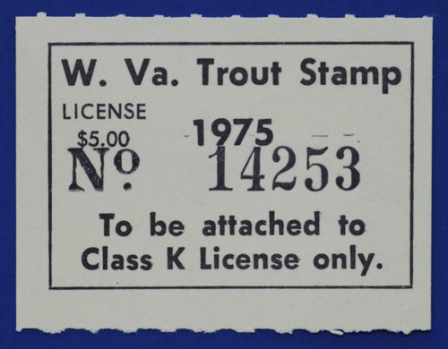 1975 West Virginia Nonresident Trout Stamp (WVT10)