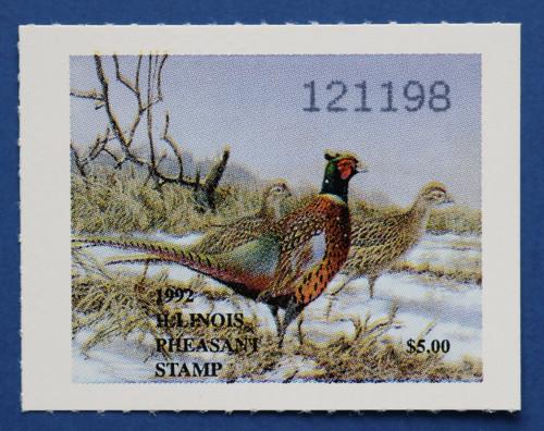 1992 Illinois Pheasant Stamp (ILP03)