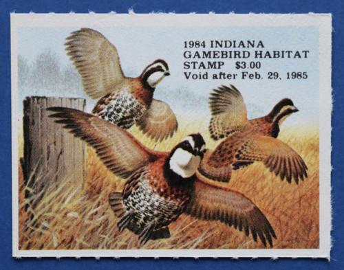 1984 Indiana Game Bird Habitat Stamp (INH05)
