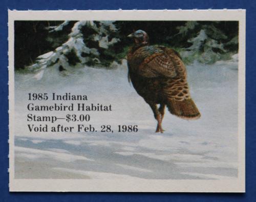 1985 Indiana Game Bird Habitat Stamp (INH06)