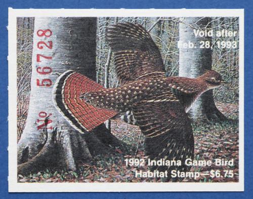 1992 Indiana Game Bird Habitat Stamp (INH13)