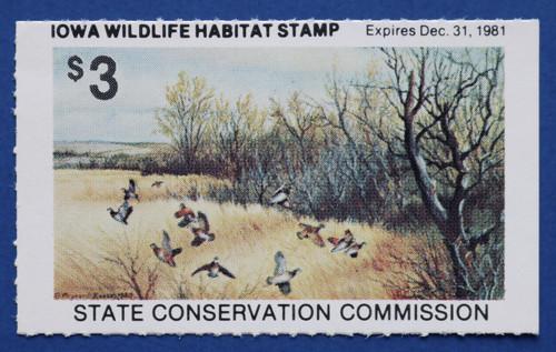 1981 Iowa Wildlife Habitat Stamps (IAH03)