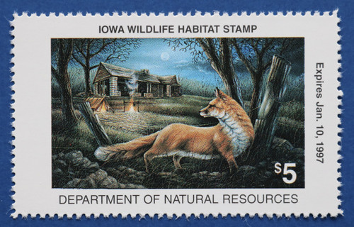 1996 Iowa Wildlife Habitat Stamp (IAH19)