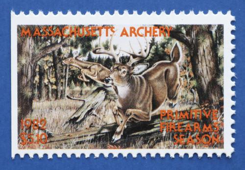 1982 Massachusetts Archery - Primitive Firearms Season Stamp (MAA23)