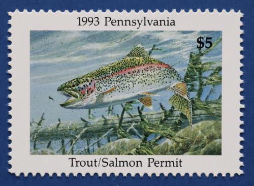 1993 Pennsylvania Trout/Salmon Permit Stamp (PATS03)