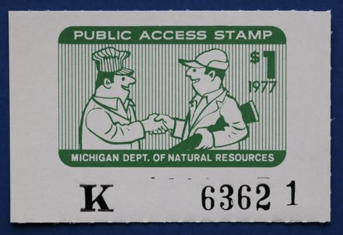 1977 Michigan Public Access Stamp (MIPA01)
