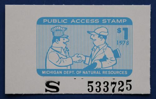 1978 Michigan Public Access Stamp (MIPA02)