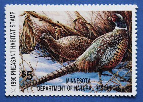 1990 Minnesota Pheasant Habitat Stamp (MNP08)
