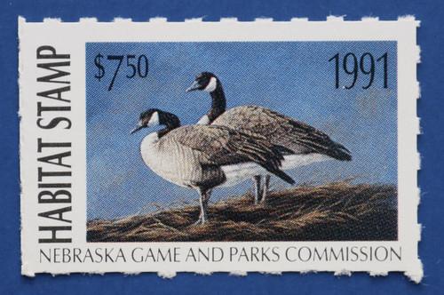 1991 Nebraska Habitat Stamp (NEH15)
