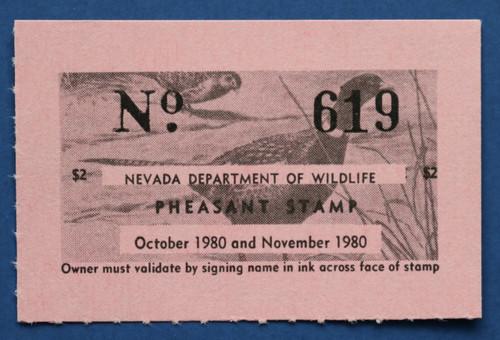 1980 Nevada Pheasant Stamp (NVP10)