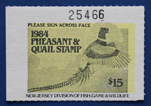 1984 New Jersey Pheasant & Quail Stamp (NJPQ10)