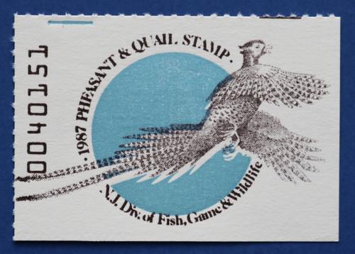 1987 New Jersey Pheasant & Quail Stamp (NJPQ13)