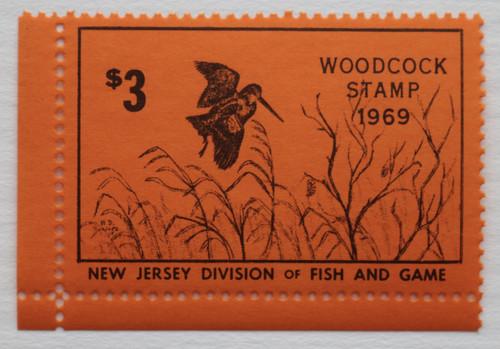 1969 New Jersey Woodcock Stamp (NJW03)