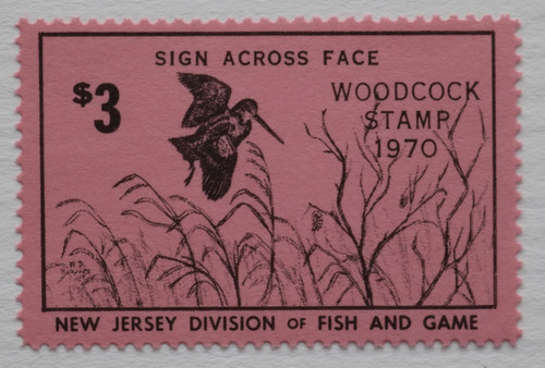 1970 New Jersey Woodcock Stamp (NJW04)