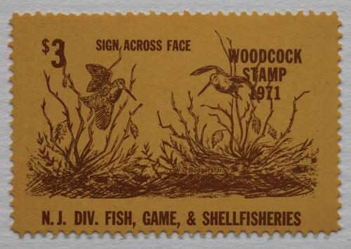 1971 New Jersey Woodcock Stamp (NJW05)