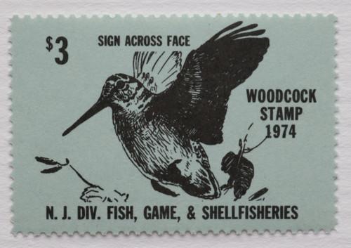 1974 New Jersey Woodcock Stamp (NJW08)