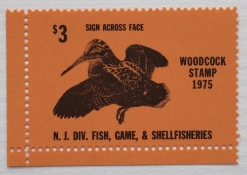 1975 New Jersey Woodcock Stamp (NJW09)