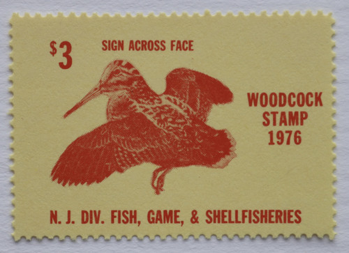 1976 New Jersey Woodcock Stamp (NJW10)