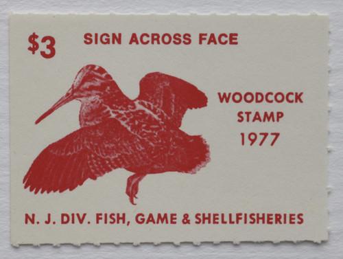 1977 New Jersey Woodcock Stamp (NJW11)