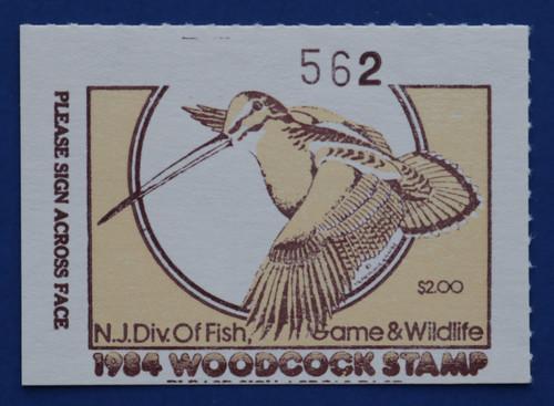 1984 New Jersey Woodcock Stamp (NJW18)