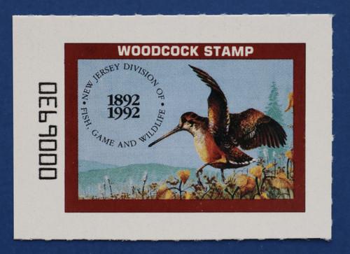 1992 New Jersey Woodcock Stamp (NJW26)
