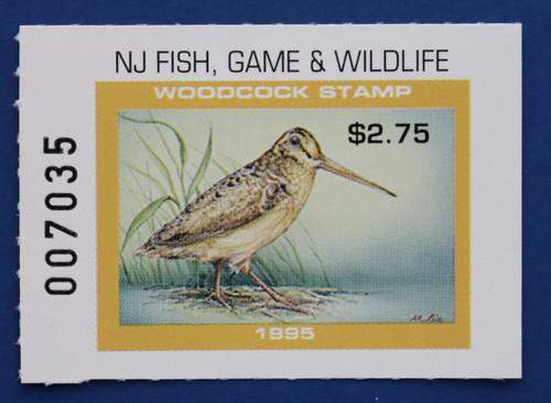 1995 New Jersey Woodcock Stamp (NJW29)