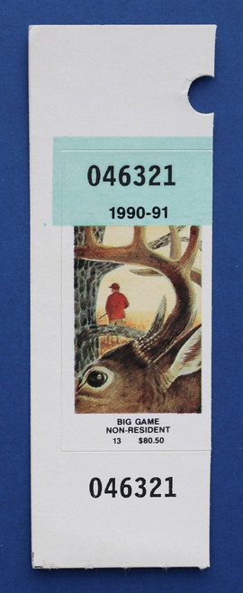 1990-91 New York Big Game Stamp (NYBG18)