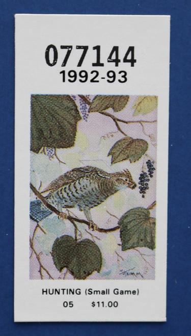 1992-93 New York Hunting Stamp (NYH40)