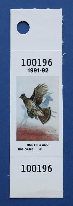 1991-92 New York Hunting & Big Game Stamp (NYHB10)
