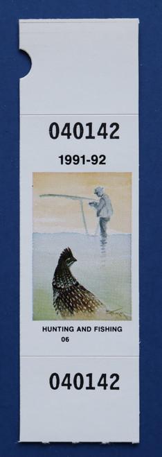 1991-92 New York Hunting & Fishing Stamp (NYHF10)