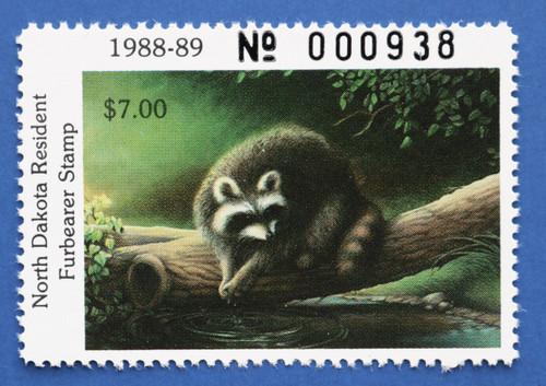 1988 North Dakota Furbearer Stamp (NDF06)