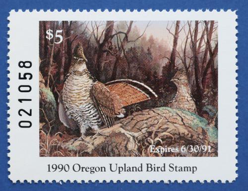 1990 Oregon Upland Game Bird Stamp (ORUB01)