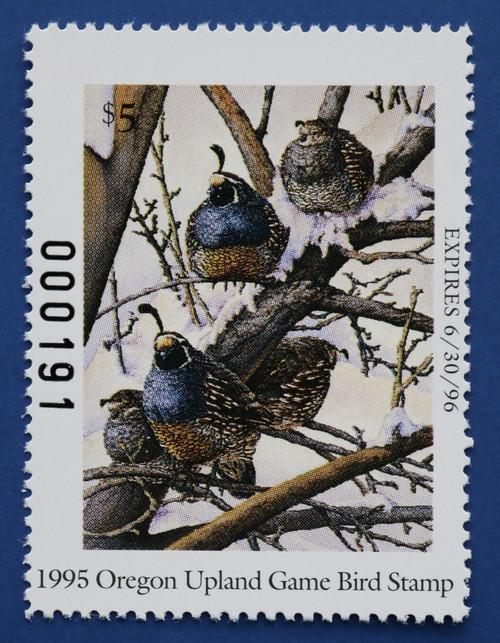 1995 Oregon Upland Game Bird Stamp (ORUB06)