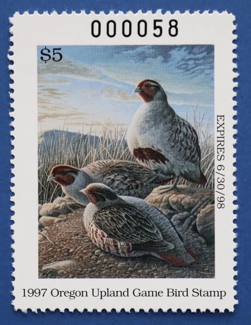 1997 Oregon Upland Game Bird Stamp (ORUB08)