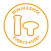 PMD Replacement Discs Blue Sensitive - 6 ct