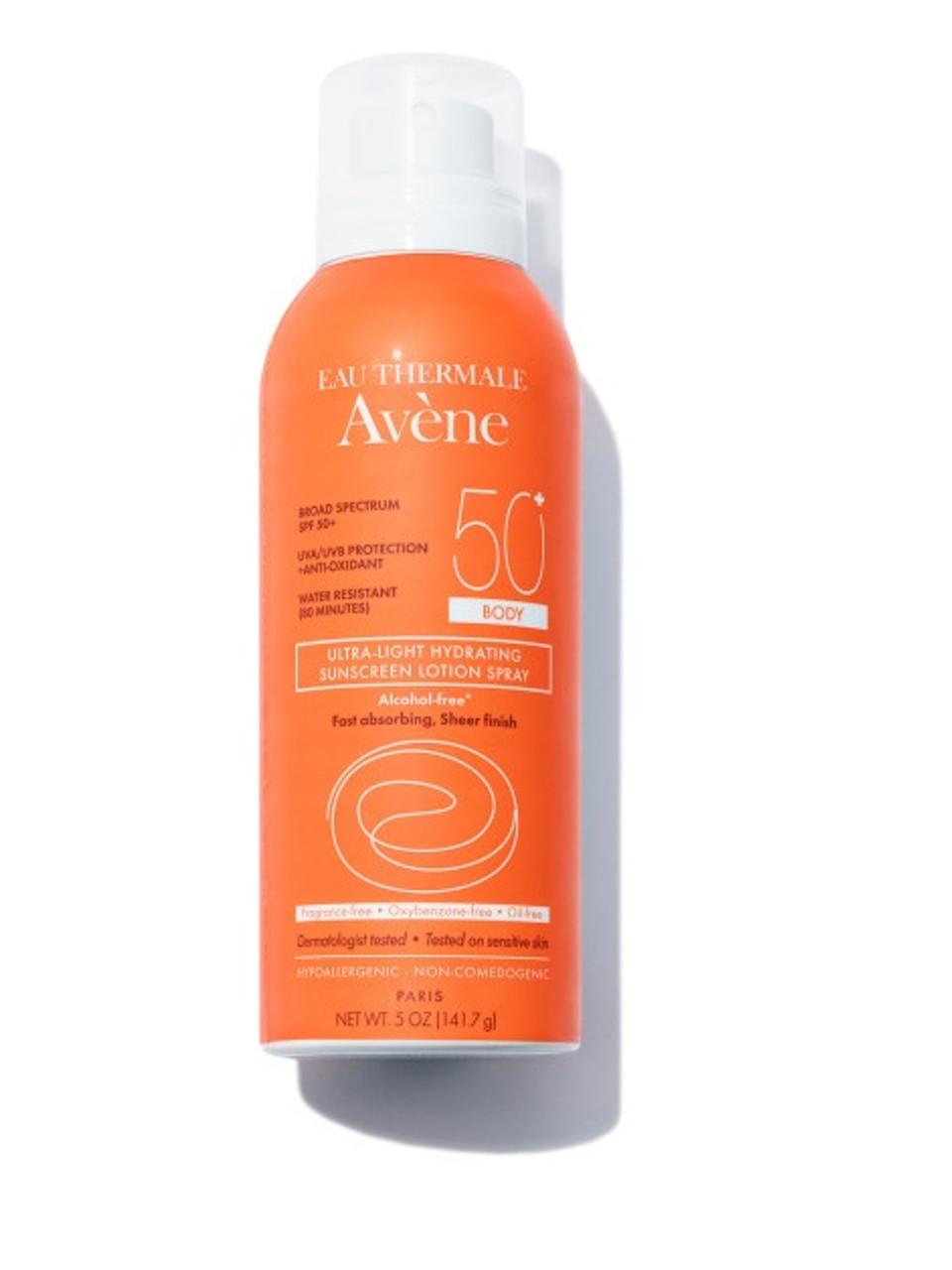 0d3603c47682 Avene Ultra-Light Hydrating Sunscreen Lotion Spray SPF 50+ Body -  beautystoredepot.com